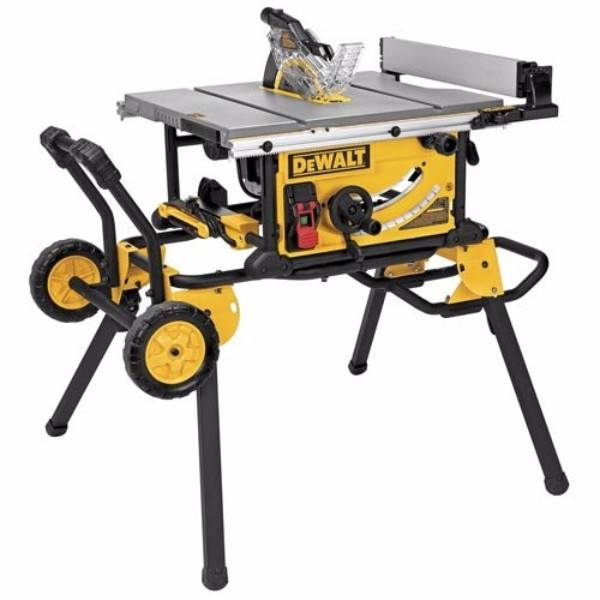 DEWALT DWE7491RS 10-Inch Jobsite Table Saw with 32.5-Inch Rip Capacity and Rolling Stand