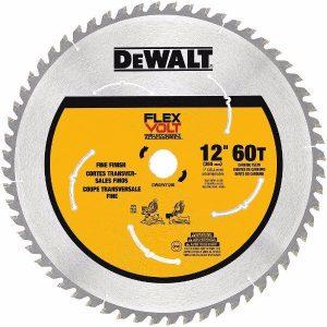 DEWALT DWAFV31260 Flexvolt 60T Miter Saw Blade, 12