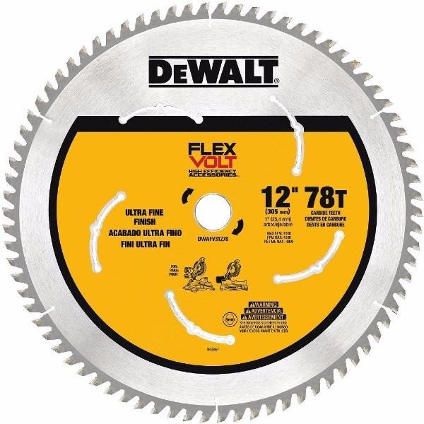 DEWALT DWAFV31278 Flexvolt 78T Miter Saw Blade, 12